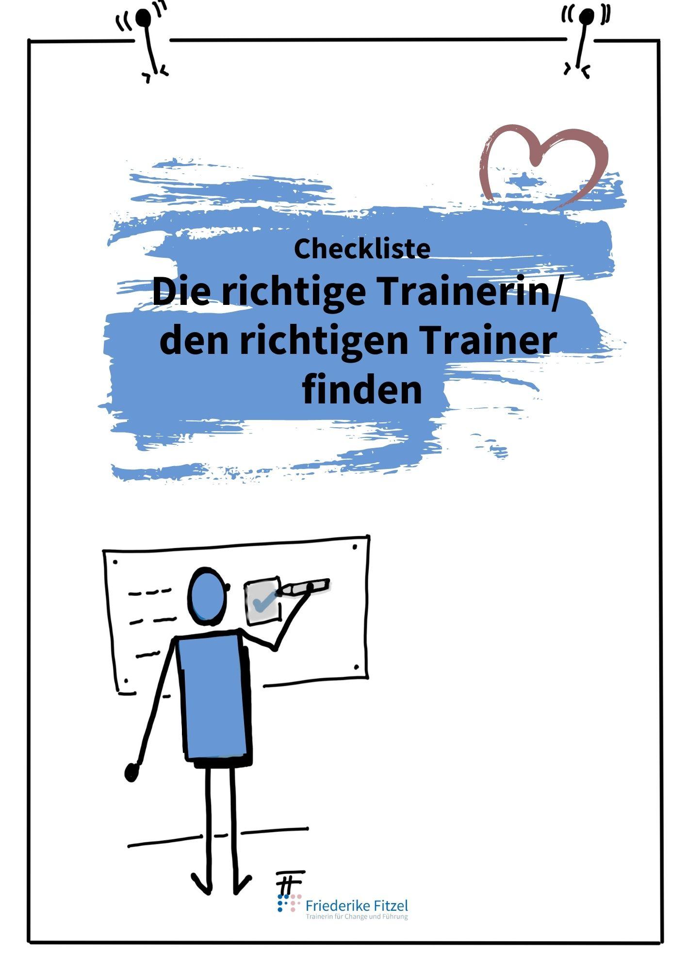 Checkliste die richtige Trainerin finden